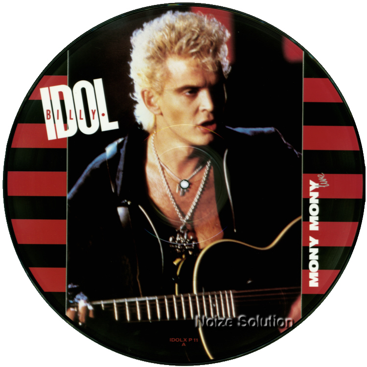 Billy Idol - Mony Mony 12 inch vinyl Picture Disc Record Side 1 BillyIdol.