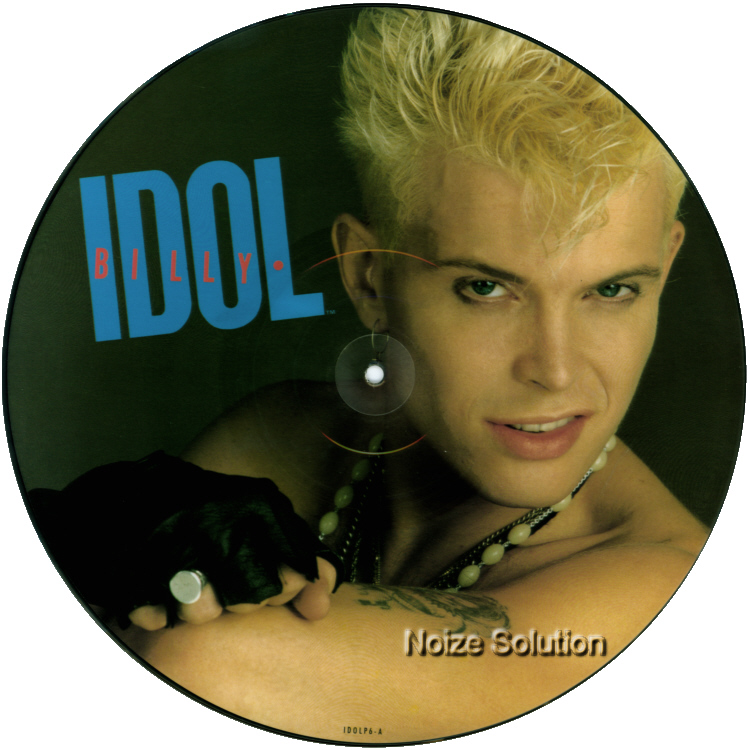 Billy Idol - Rebel Yell 12 inch vinyl Picture Disc Record Side 1 BillyIdol.