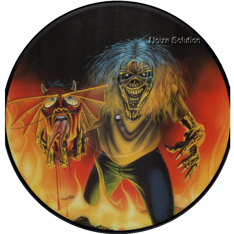 Iron Maiden - The Number Of The Beast 12 inch vinyl Picture Disc record side 1.