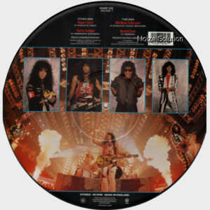 KISS - Reason To Live, 12 inch vinyl Picture Disc record Side 2.