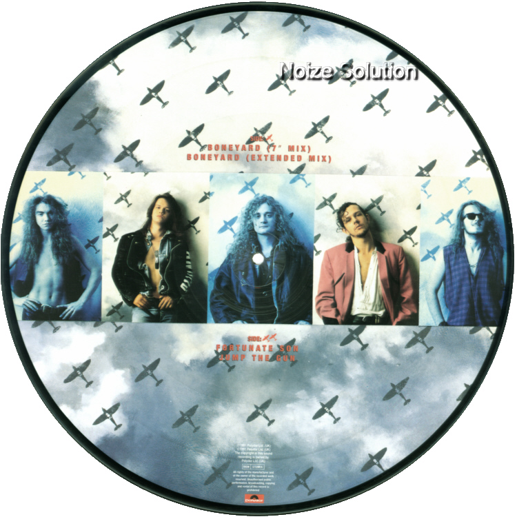 Little Angels – Boneyard, 12 inch vinyl Picture Disc record Side 2.