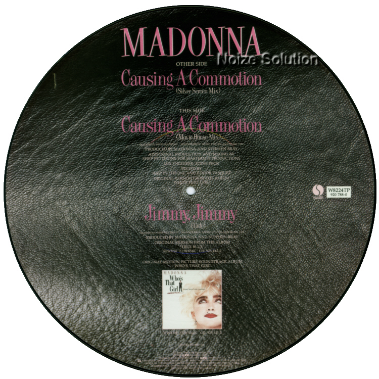 Madonna - Causing A Commotion 12 inch vinyl Picture Disc Record Side 2 MadonnaMadonna.