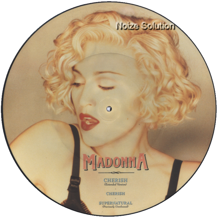 Madonna - Cherish 12 inch vinyl Picture Disc Record Side 1 MadonnaMadonna.