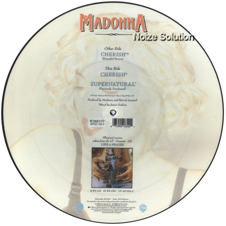 Madonna - Cherish 12 inch vinyl Picture Disc Record Side 2 MadonnaMadonna.