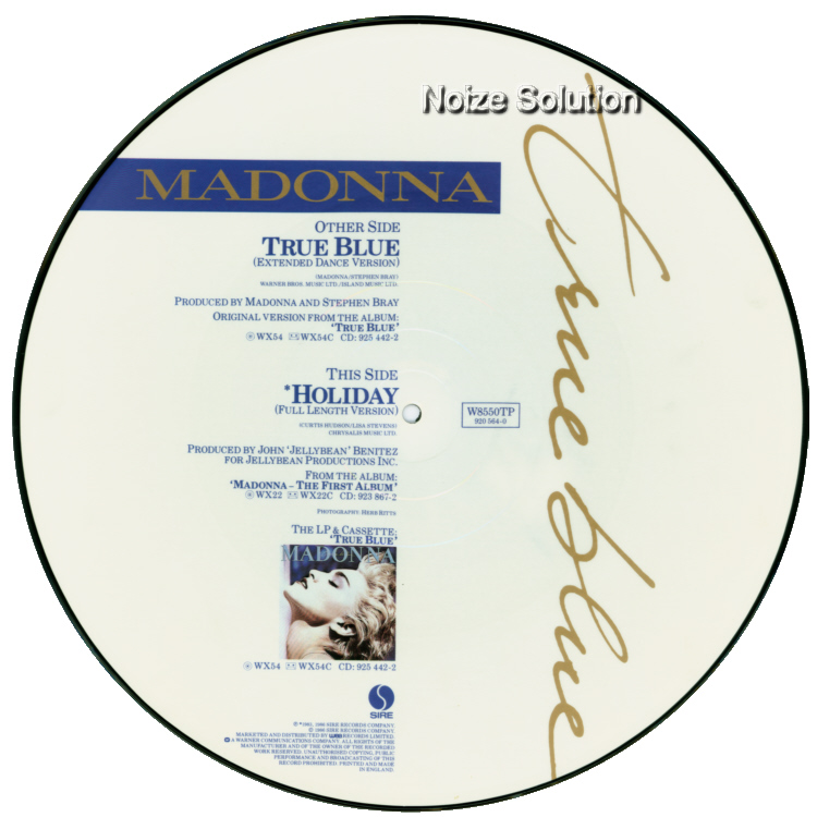 Madonna - True Blue 12 inch vinyl Picture Disc Record Side 2 MadonnaMadonna.