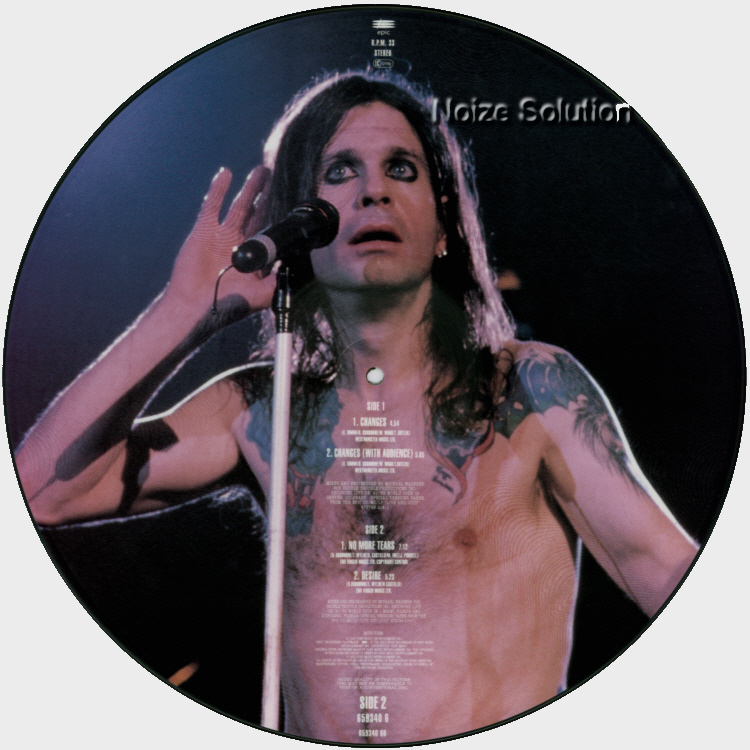 Ozzy Osbourne Changes 12 inch Vinyl LP Picture Disc Record Side 2.
