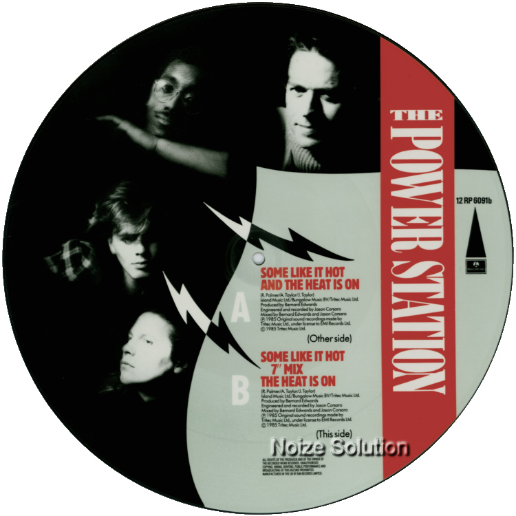 The Power Station Some Like It Hot 12 inch vinyl Picture Disc Record Side 1 ThePowerStation DuranDuran RobertPalmer.
