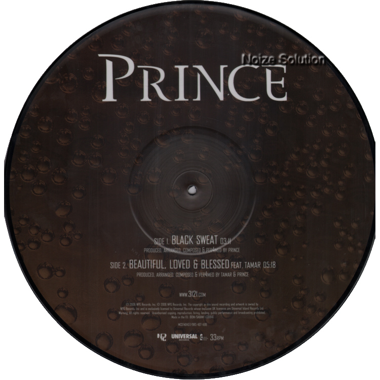 Prince - Black Sweat vinyl 12 inch Picture Disc Record Side 2.