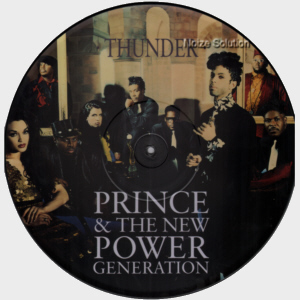 Prince - Thunder vinyl 12 inch Picture Disc Record Side 1.