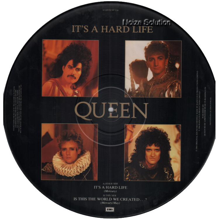 Queen - It's A Hard Life 12 inch vinyl picture disc record side b.