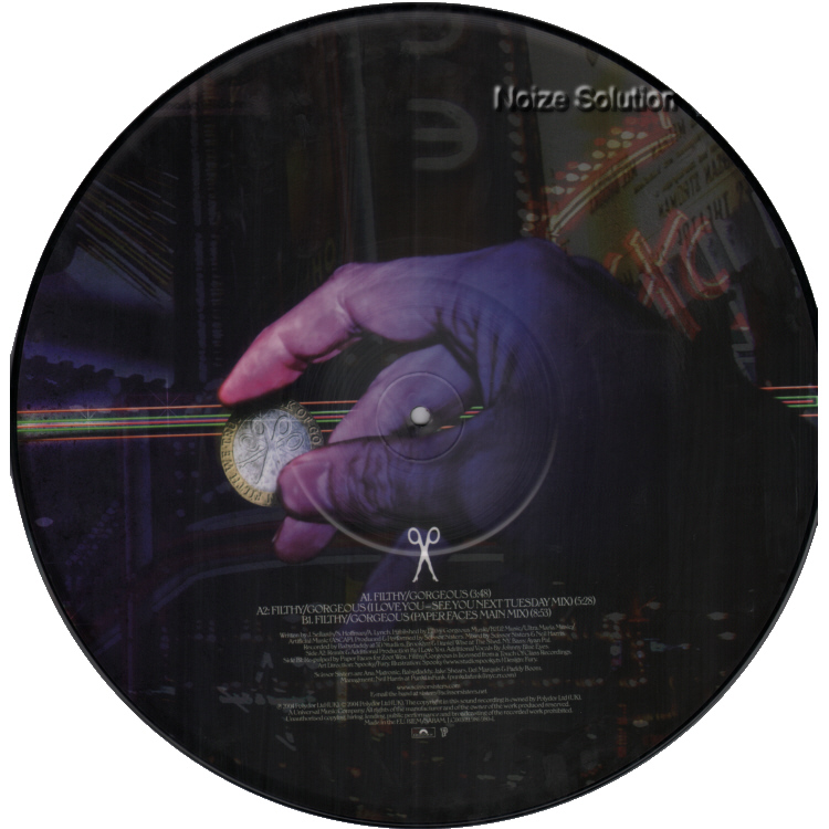 Scissor Sisters - Filthy Gorgeous 12 inch vinyl picture disc record side 2.
