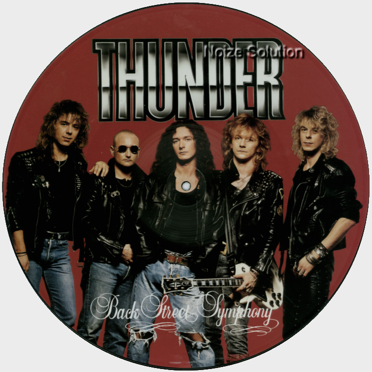 Thunder Back Street Symphony 12 inch vinyl Picture Disc Record Side 1.