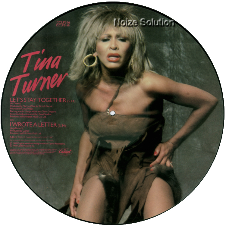 Tina Turner - Let's Stay Together, 12 inch vinyl single side 2.