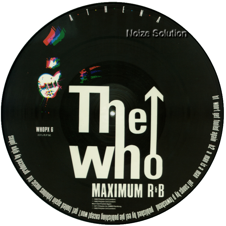 The Who Athena 12 inch vinyl Picture Disc Record Side 2 TheWho.