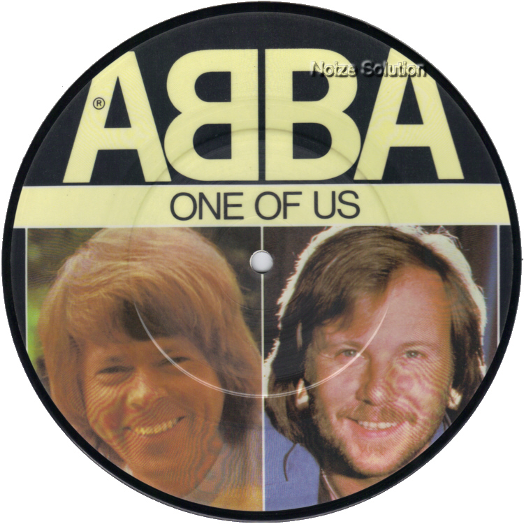 Abba One Of Us 7 inch vinyl Picture Disc Record Side 1.