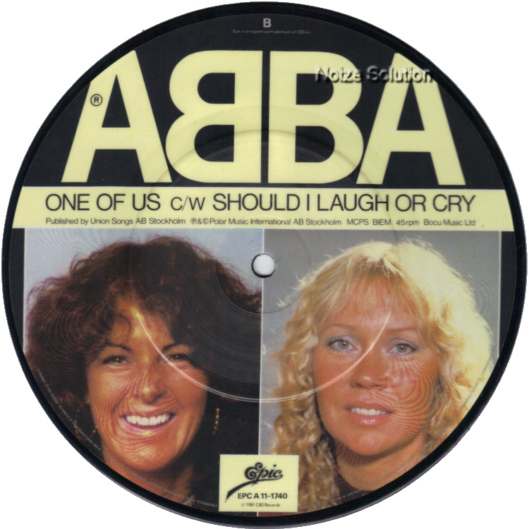 Abba One Of Us 7 inch vinyl Picture Disc Record Side 2.