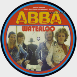 Abba - Waterloo, 30th anniversary 7 inch vinyl picture disc record side 1.