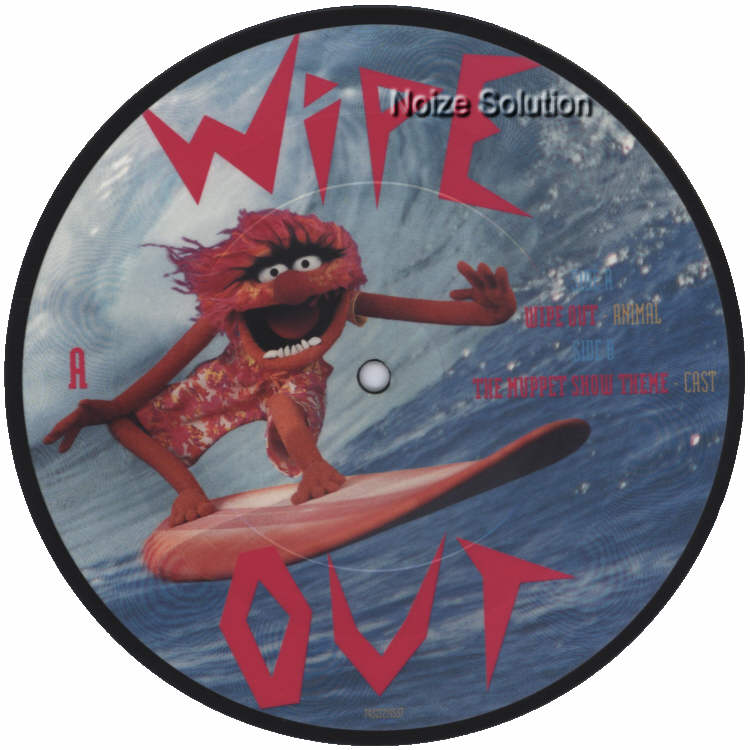 Animal - Wipe Out 7 inch vinyl Picture Disc Record Side 1 TheMuppets.