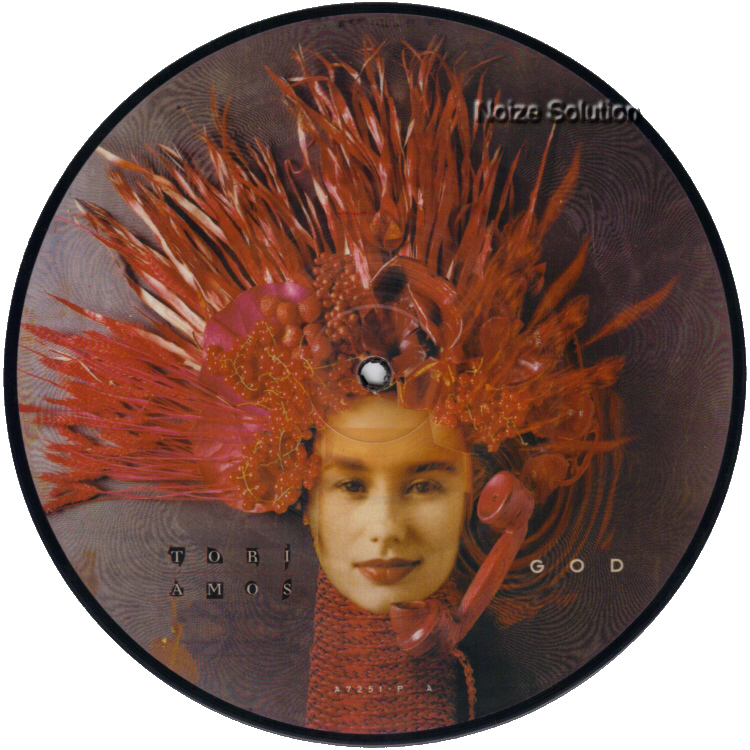 Tori Amos God 7 inch vinyl Picture Disc Record Side 1.