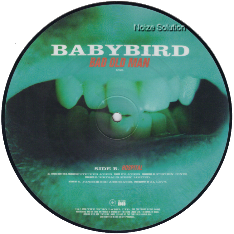 Babybird Bad Old Man 7 inch vinyl Picture Disc Record Side 2.