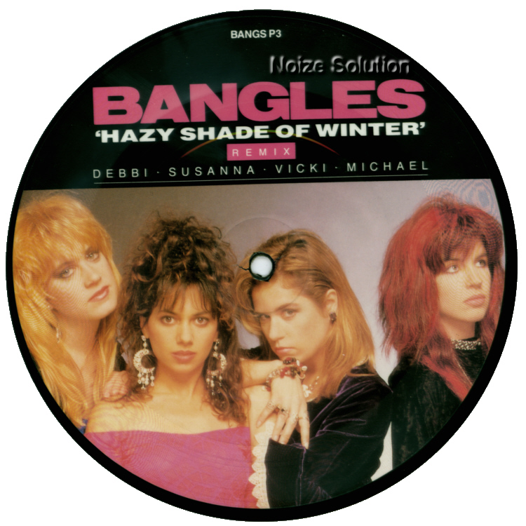 Bangles Hazy Shade Of Winter 7 inch vinyl Picture Disc Record Side 1 BanglesBangles.