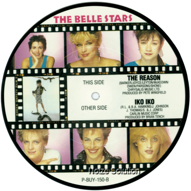 The Belle Stars - Iko Iko 7 inch vinyl Picture Disc Record Side 2.