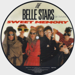 The Belle Stars - Sweet Memory 7 inch vinyl Picture Disc Record Side 1.
