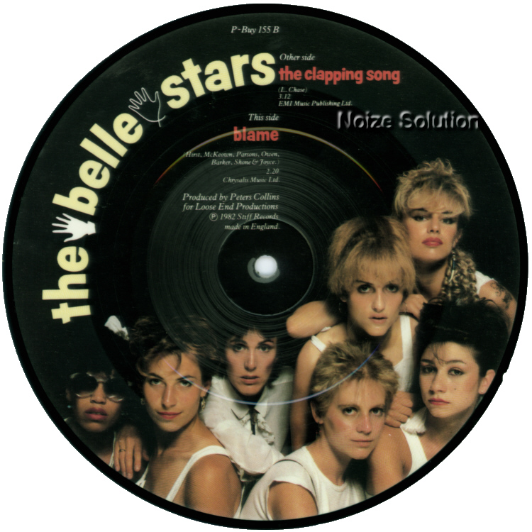 The Belle Stars - The Clapping Song 7 inch vinyl Picture Disc Record Side 2.
