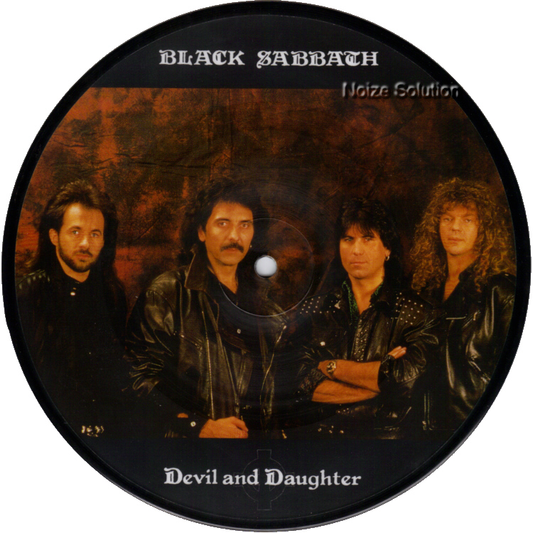 Black Sabbath - Devil And Daughter 7 inch vinyl Picture Disc Record Side 1 blacksabbath.