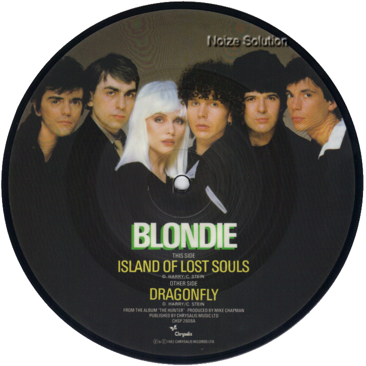 Blondie Island Of Lost Souls Man 7 inch vinyl Picture Disc Record Side 1.