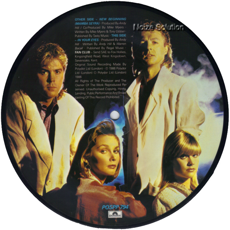 Bucks Fizz New Beginning 7 inch vinyl Picture Disc Record Side 2.