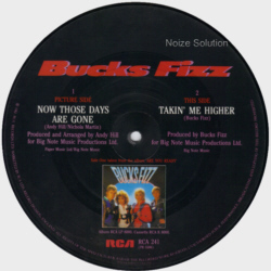 Bucks Fizz - Now Those Days Are Gone - Vinyl Picture Disc Record side 2