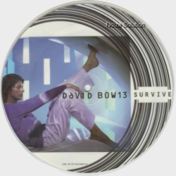 David Bowie - Survive, 7 inch vinyl Picture Disc Record side 1.
