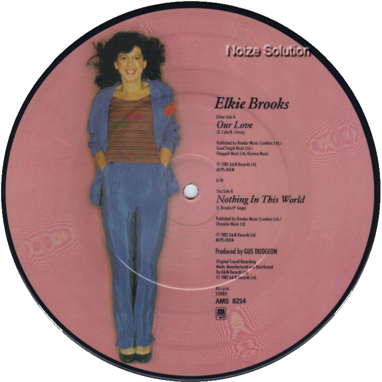 Elkie Brooks Our Love 7 inch vinyl Picture Disc Record Side 2 ElkieBrooks.