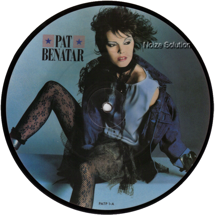 Pat Benatar - Love Is A Battlefield, 7 inch vinyl Picture Disc record Side 1.