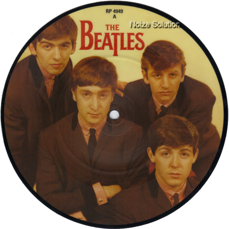 The Beatles - Love Me Do 7 inch vinyl Picture Disc Record side 1.