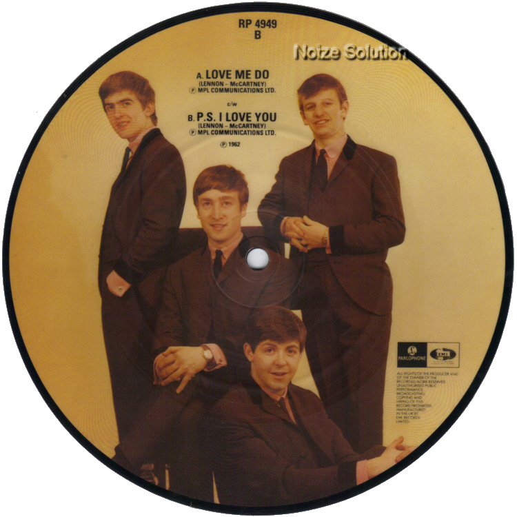 The Beatles - Love Me Do 7 inch vinyl Picture Disc Record side 2.