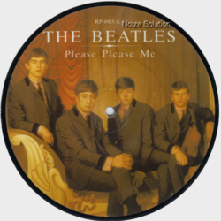 The Beatles - Please Please Me 7 inch vinyl Picture Disc Record side 1.