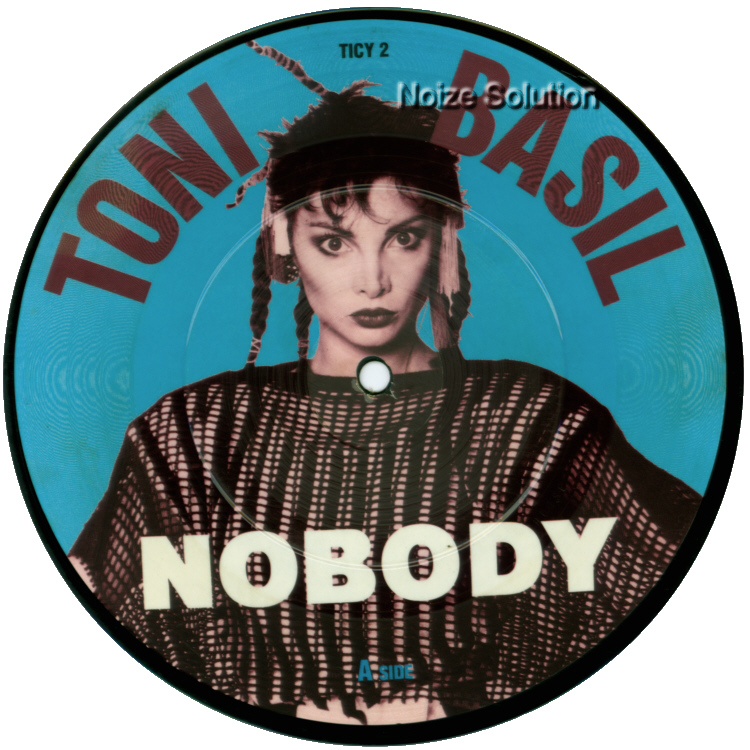 Toni Basil Nobody 7 inch vinyl Picture Disc Record Side 1 ToniBasil.