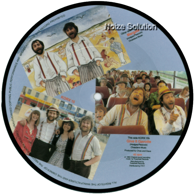 Chas and Dave - Margate vinyl 7 inch Picture Disc Record Side 2.
