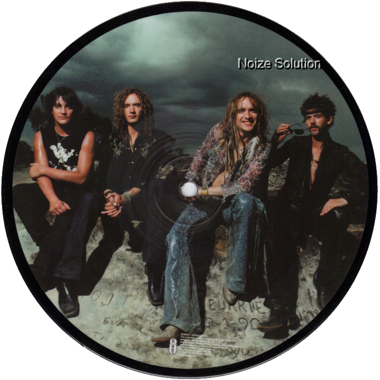 The Darkness Love Is Only A Feeling 7 inch vinyl Picture Disc Record Side 2.