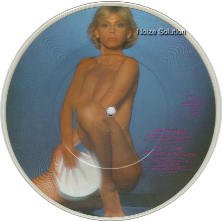 Britt Ekland Do It To Me 7 inch vinyl Picture Disc Record Side 1.