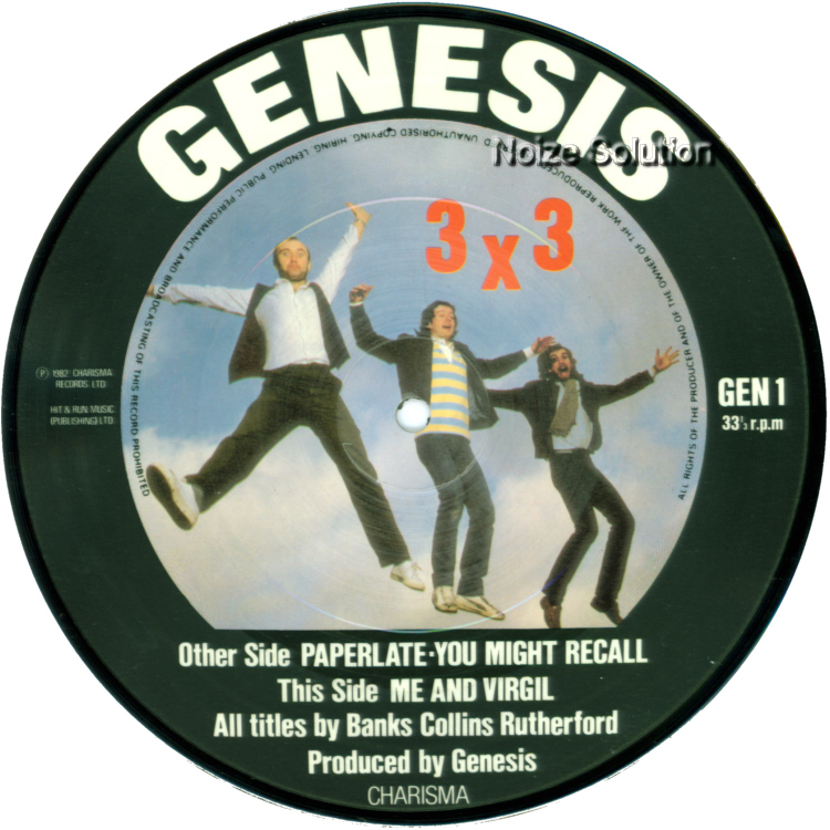 Genesis - Paperlate 7 inch vinyl Picture Disc Record Side 2.