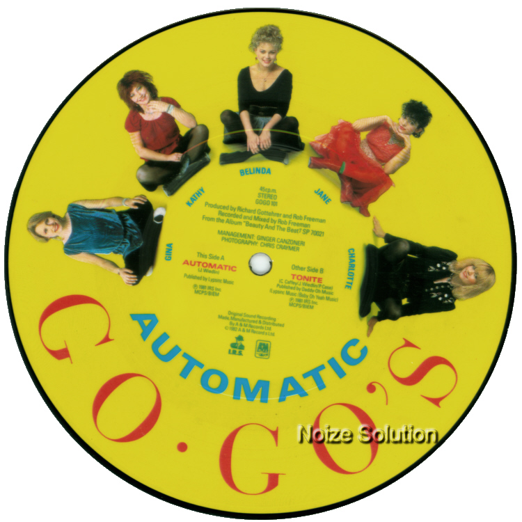 Go Go's Automatic 7 inch vinyl Picture Disc Record Side 2.