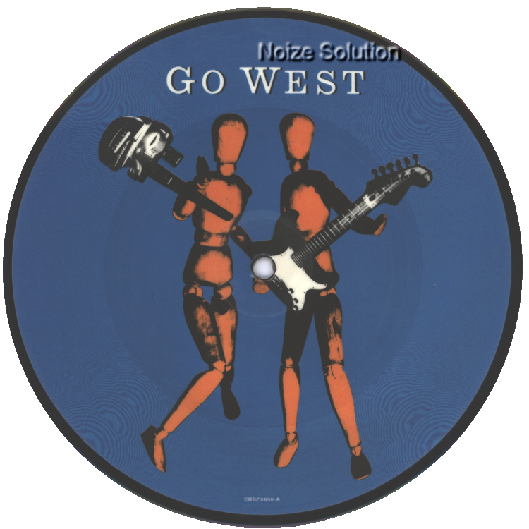 Go West � We Close Our Eyes, 7 inch vinyl Picture Disc record Side 1.