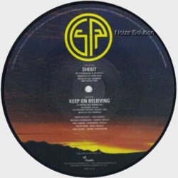 Grand Prix - Shout 7 inch vinyl Picture Disc record side 2.