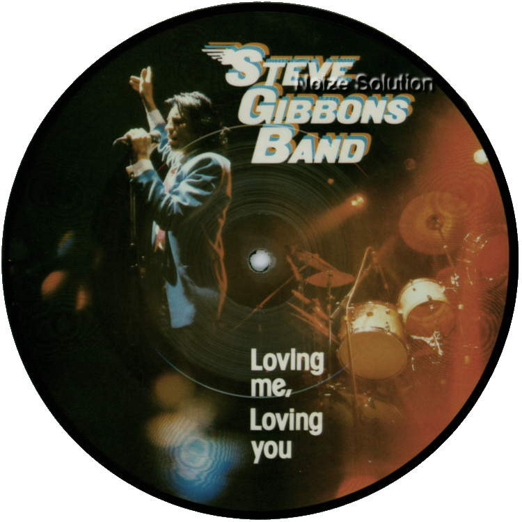 Steve Gibbons Band Loving Me, Loving You 7 inch vinyl Picture Disc Record Side 1 SteveGibbons.