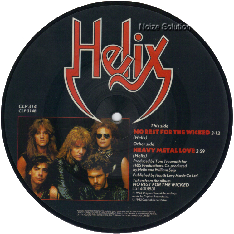 Helix Heavy Metal Love 7 inch vinyl Picture Disc Record Side 2.