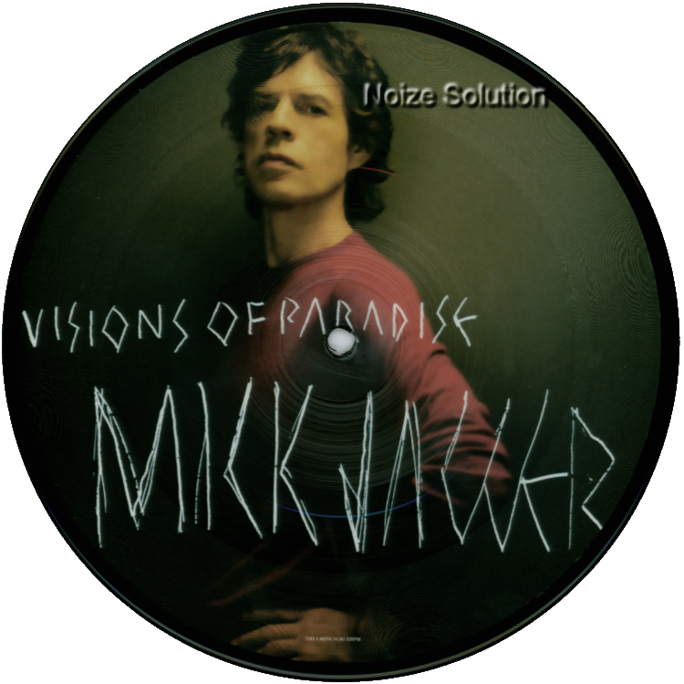 Mick Jagger Visions Of Paradise 7 inch vinyl Picture Disc Record Side 1.