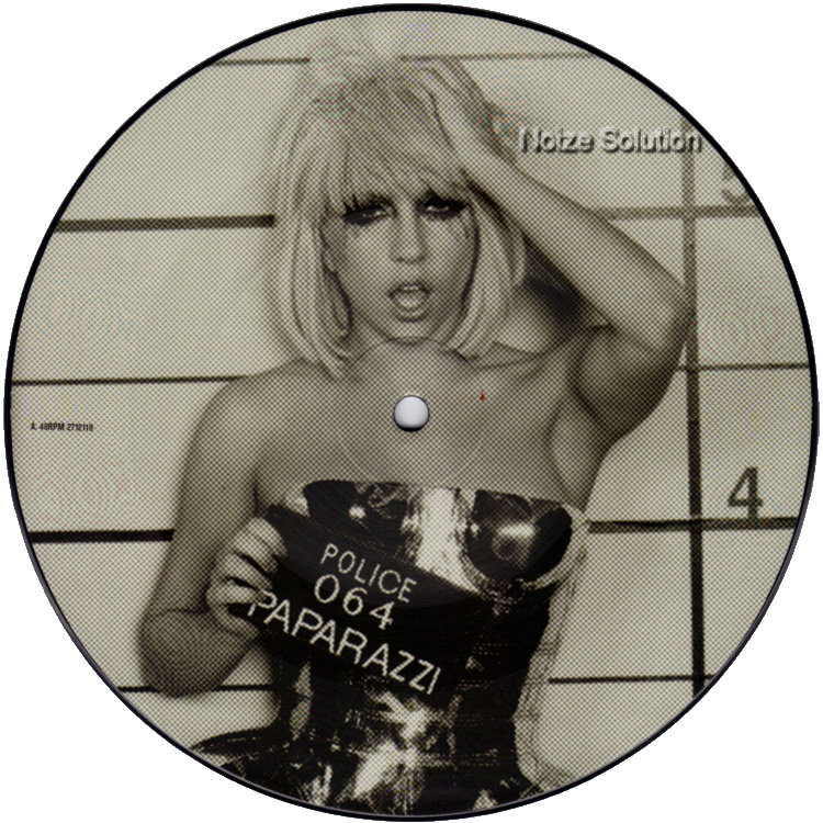 Lady Gaga - Paparazzi 7 inch vinyl Picture Disc Record Side 1 LadyGaga.